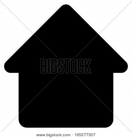 Cabin vector icon. Flat black symbol. Pictogram is isolated on a white background. Designed for web and software interfaces.