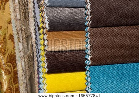 are sets of tissue samples for upholstery