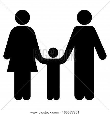 Family Child vector icon. Flat black symbol. Pictogram is isolated on a white background. Designed for web and software interfaces.