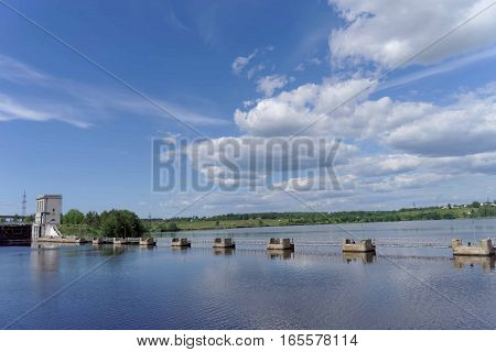Gorodets, Russia - June 2.2016. View of the lower gateway Gorodetsky to the Volga River