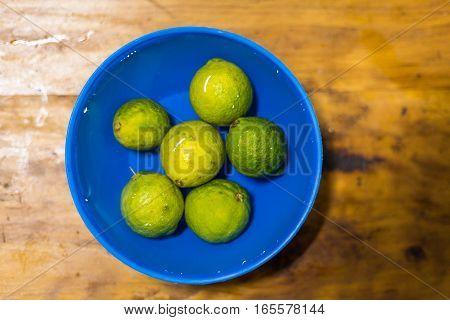 Six African Lemon In Clean Water