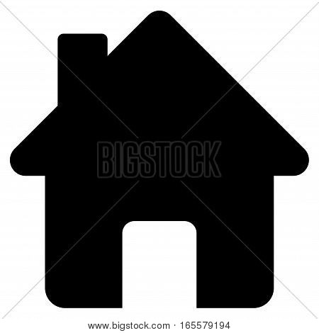 Home vector icon. Flat black symbol. Pictogram is isolated on a white background. Designed for web and software interfaces.
