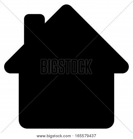 House vector icon. Flat black symbol. Pictogram is isolated on a white background. Designed for web and software interfaces.