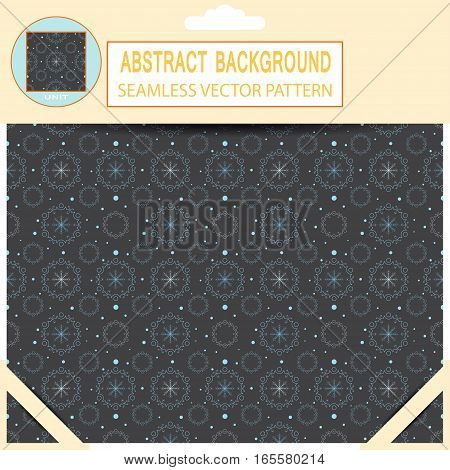 Vector seamless abstract dark gray pattern in the package with pattern unit and shadow.
