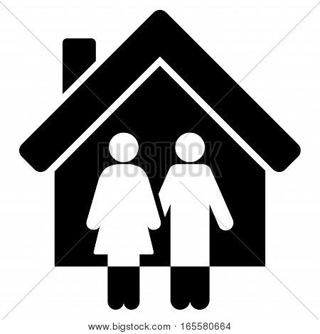 Property vector icon. Flat black symbol. Pictogram is isolated on a white background. Designed for web and software interfaces.