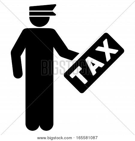 Tax Officer vector icon. Flat black symbol. Pictogram is isolated on a white background. Designed for web and software interfaces.