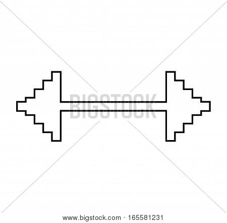 arrow pointer isolated icon vector illustration design