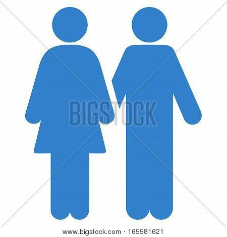 Adult Pair vector icon. Flat cobalt symbol. Pictogram is isolated on a white background. Designed for web and software interfaces.