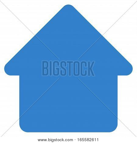 Cabin vector icon. Flat cobalt symbol. Pictogram is isolated on a white background. Designed for web and software interfaces.