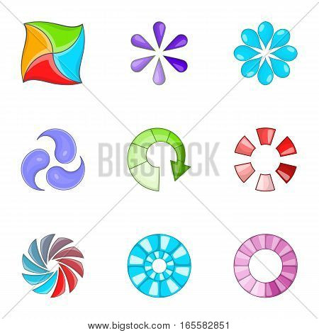 Loading process icons set. Cartoon illustration of 9 loading process vector icons for web