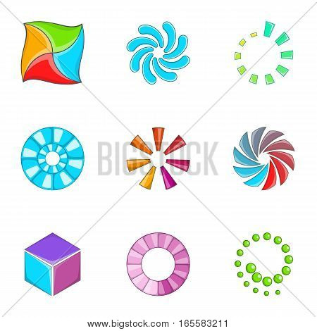 Loading indicators icons set. Cartoon illustration of 9 loading indicators vector icons for web