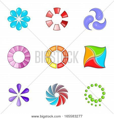 Web loader icons set. Cartoon illustration of 9 web loader vector icons for web