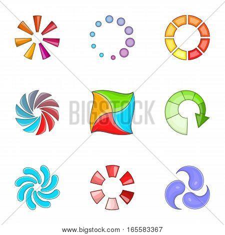 Preloader icons set. Cartoon illustration of 9 preloader vector icons for web