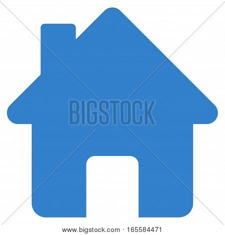 Home vector icon. Flat cobalt symbol. Pictogram is isolated on a white background. Designed for web and software interfaces.