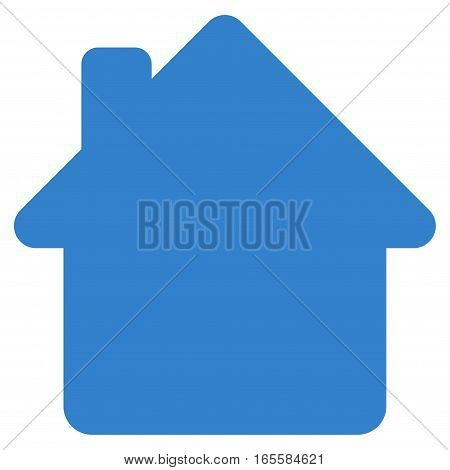 House vector icon. Flat cobalt symbol. Pictogram is isolated on a white background. Designed for web and software interfaces.