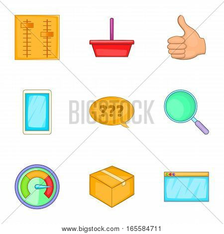 Start up company icons set. Cartoon illustration of 9 start up company vector icons for web