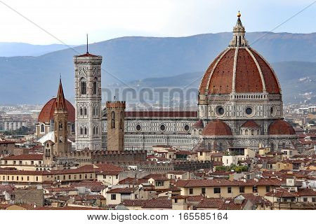 Panorama Of Florence With The Great Dome Of The Cathedral