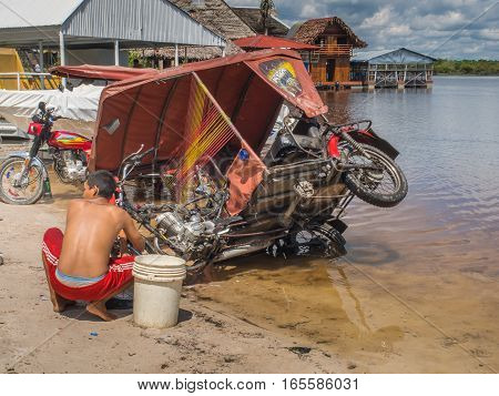 Washing Auto Rickshaw