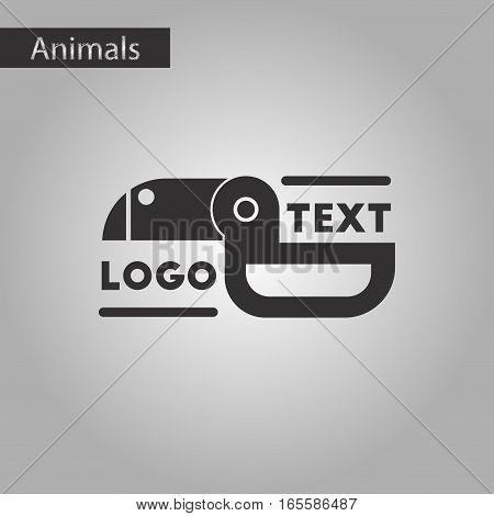 black and white style icon of bird logo