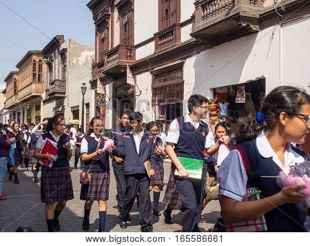 Children In Lima