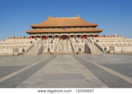 Taihe Dian(Hall of Supreme Harmony),the main palace in Forbidden City