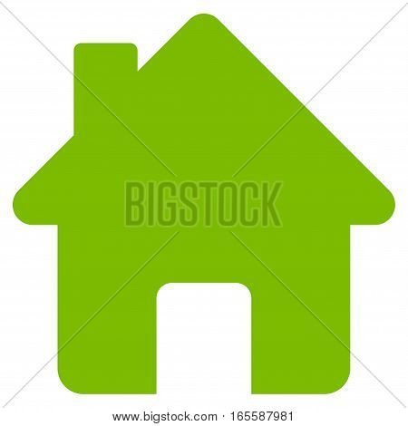 Home vector icon. Flat eco green symbol. Pictogram is isolated on a white background. Designed for web and software interfaces.