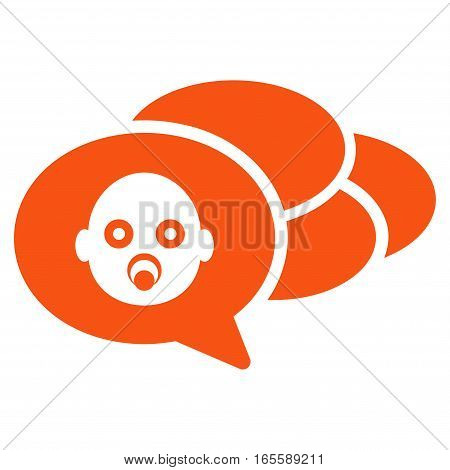 Baby Dreams vector icon. Flat orange symbol. Pictogram is isolated on a white background. Designed for web and software interfaces.