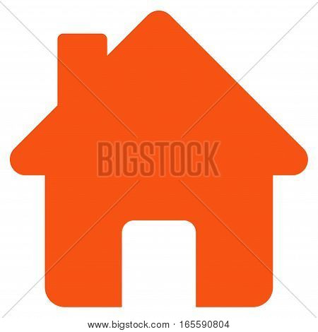 Home vector icon. Flat orange symbol. Pictogram is isolated on a white background. Designed for web and software interfaces.