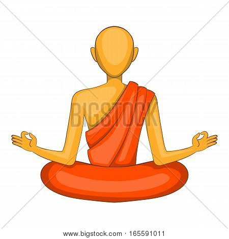 Buddhist monk icon. Cartoon illustration of buddhist monk vector icon for web design