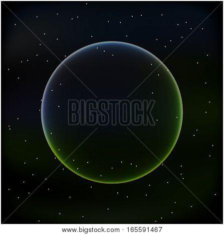 Vector space background. Vector dark planet background