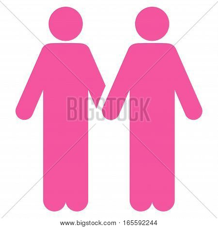 Adult Friends vector icon. Flat pink symbol. Pictogram is isolated on a white background. Designed for web and software interfaces.