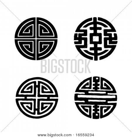 Four Chinese longevity Symbols