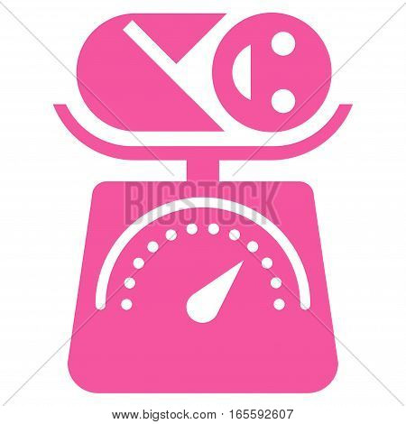 Baby Weight vector icon. Flat pink symbol. Pictogram is isolated on a white background. Designed for web and software interfaces.