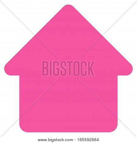 Cabin vector icon. Flat pink symbol. Pictogram is isolated on a white background. Designed for web and software interfaces.