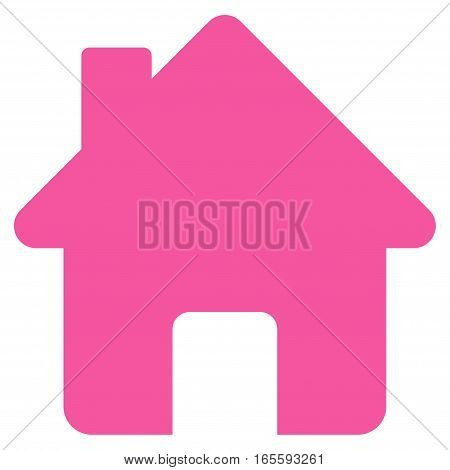 Home vector icon. Flat pink symbol. Pictogram is isolated on a white background. Designed for web and software interfaces.