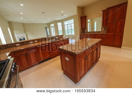 An interior shot of a kitchen in a home