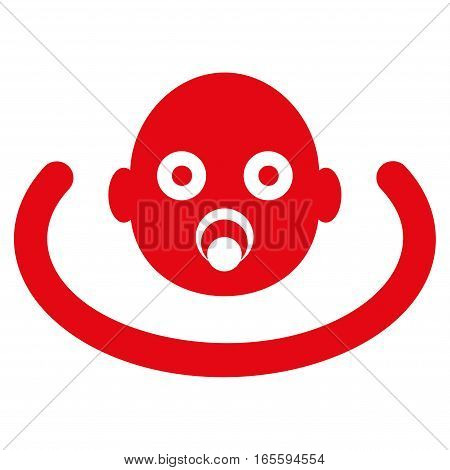 Baby Environment vector icon. Flat red symbol. Pictogram is isolated on a white background. Designed for web and software interfaces.