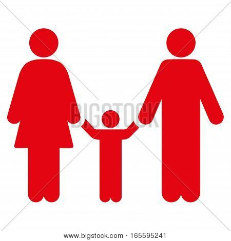Family Child vector icon. Flat red symbol. Pictogram is isolated on a white background. Designed for web and software interfaces.