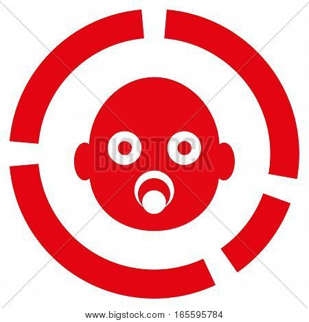 Newborn Diagram vector icon. Flat red symbol. Pictogram is isolated on a white background. Designed for web and software interfaces.