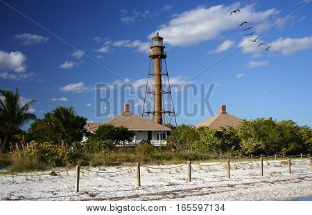 Sanibel Island Lighthouse on the Florida Gulf Coast
