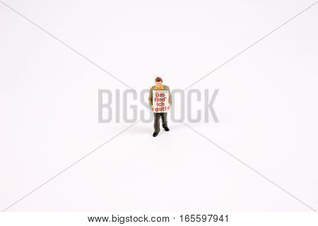 Figure Of  Sandwichman Sell Notices