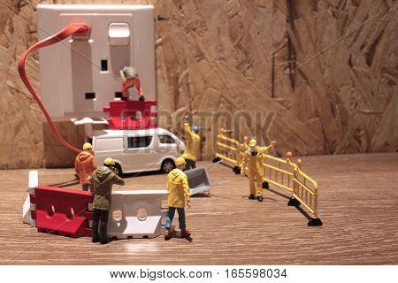 Figure Of Miniature Worker