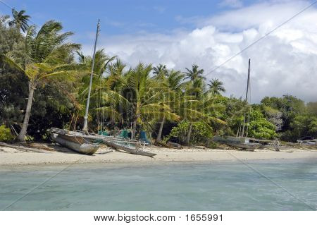 Carved Fishing Boats