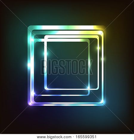 Abstract colorful with rounded rectangle, stock vector