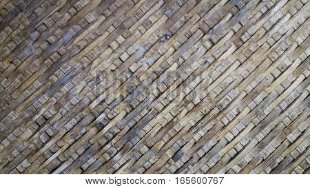 Basketry of bamboo local, texture and background