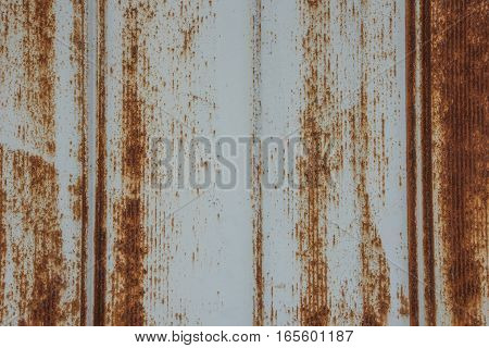 Rusted Metal Siding with Heavy Oxidation Background