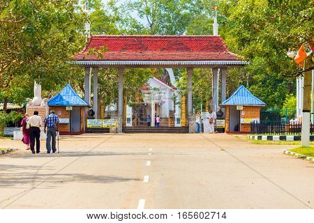 Anuradhapura Sri Maha Bodhi Street Entrance Gate H