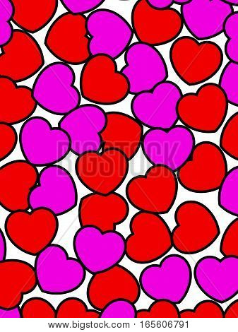 Abstract Pattern For Saint Valentines Day, High Definition Backdrop