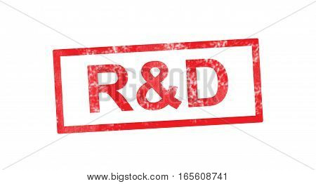 R&D acronym in a red rectangular stamp