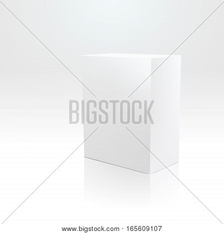 Blank box on white background vector illustration
